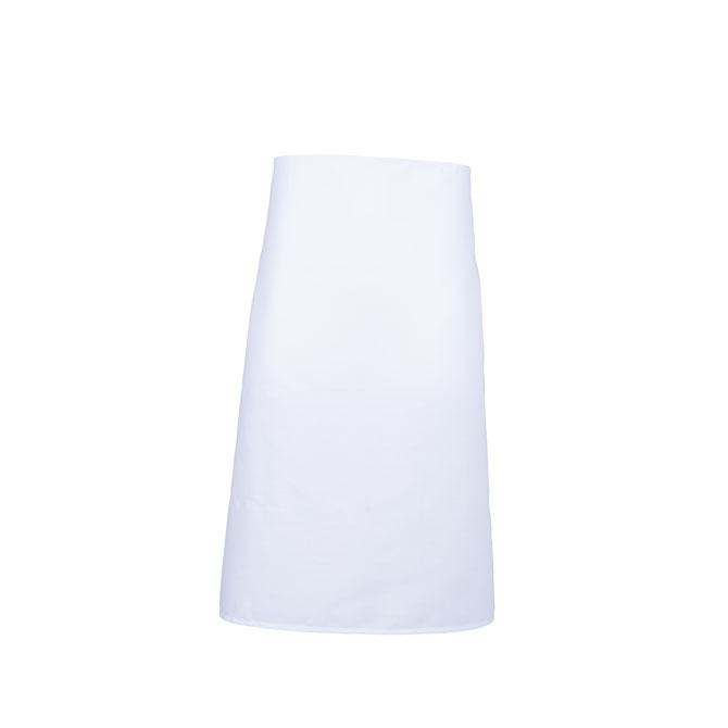 A2002-WHT Spun Polyester Bar Apron, No Pockets, Cut 29x33