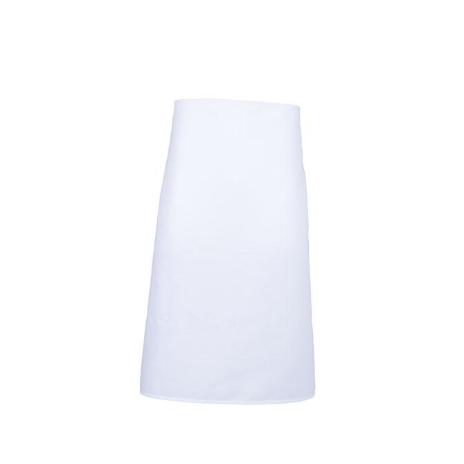 A2002-WHT Spun Polyester Bar Apron, No Pockets, Cut 29x33