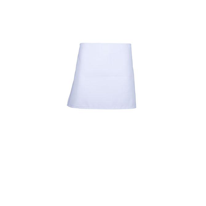A2004-WHT Spun Polyester 4-Way Apron, No Pockets