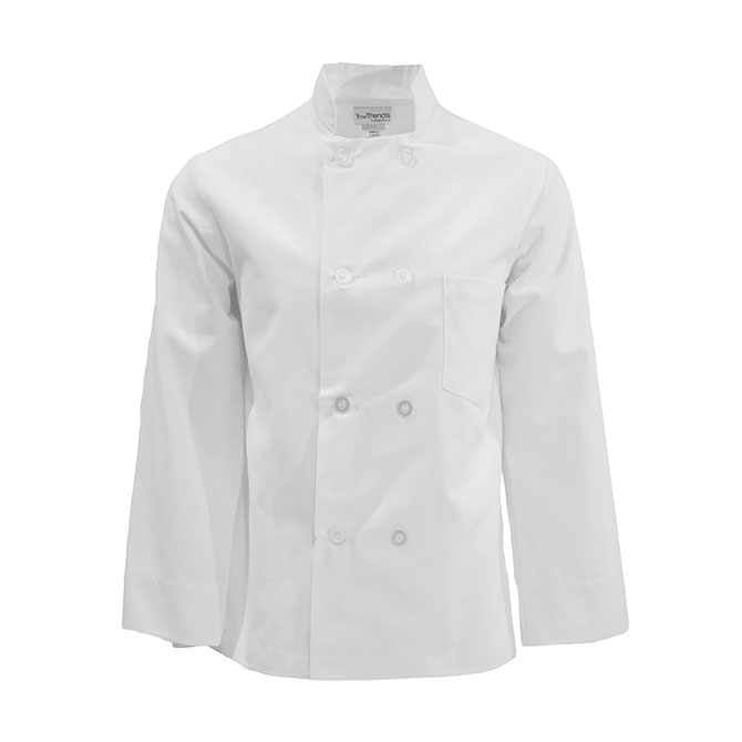 C108-Chef Coat, Blend, 8 Buttons, No Arm Pocket