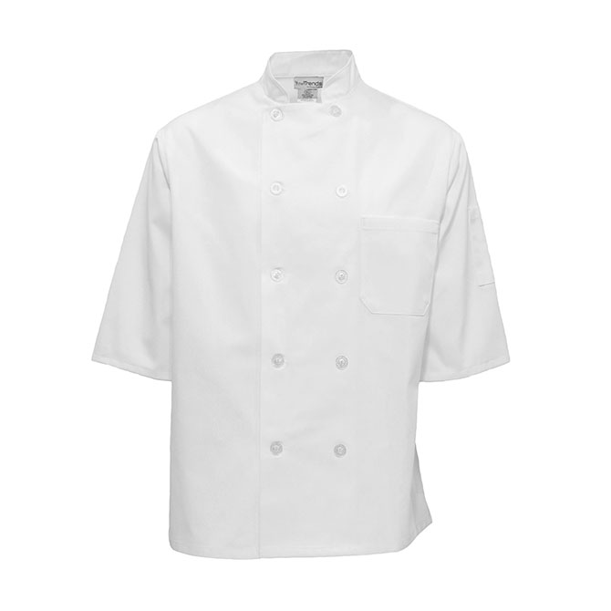 C312-Chef Coat, Half Sleeves, 10 Buttons, Spun Poly