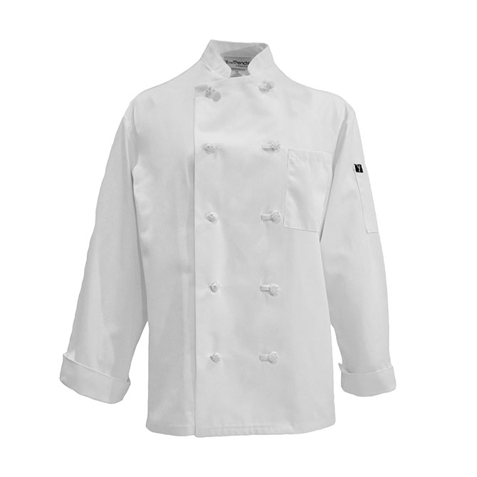 C428-Chef Coat, 10 Knot Buttons, Cotton