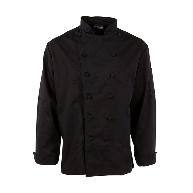 C440-Executive Chef Coat, French Cut, Knot Buttons