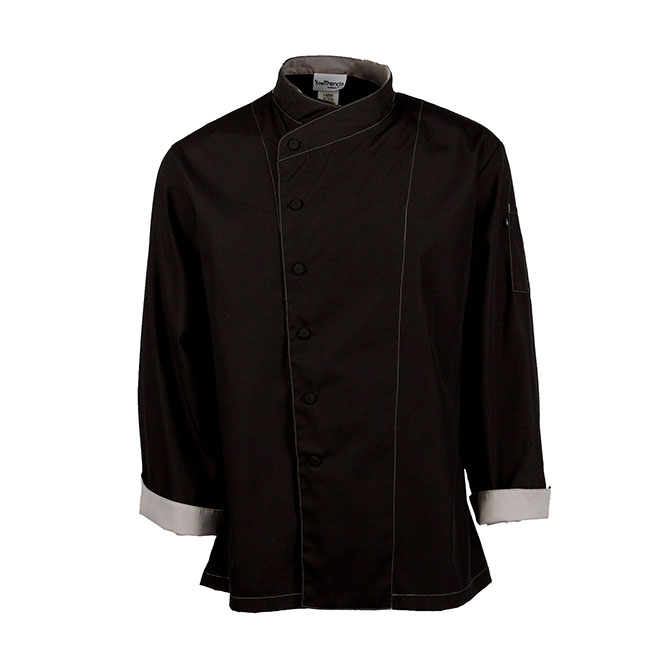 C515-Chef Coat, Poplin, Cross Collar, Full Sleeves