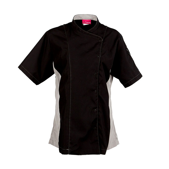 C520-Women's Chef Coat, Poplin, Cross Collar