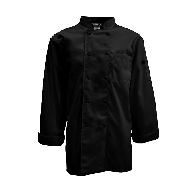 C550-Mesh Back Chef Coat, Full Sleeves, 10 Buttons, Ring Spun Poplin