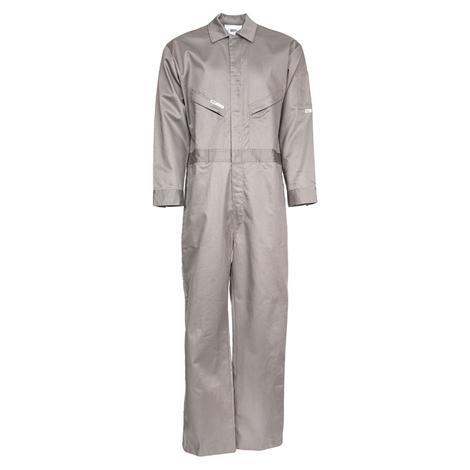 CC01-22730 (GY) 88/12 Cotton/Nylon Blend Flame Resistant Lightweight Economy Oil Field Coverall