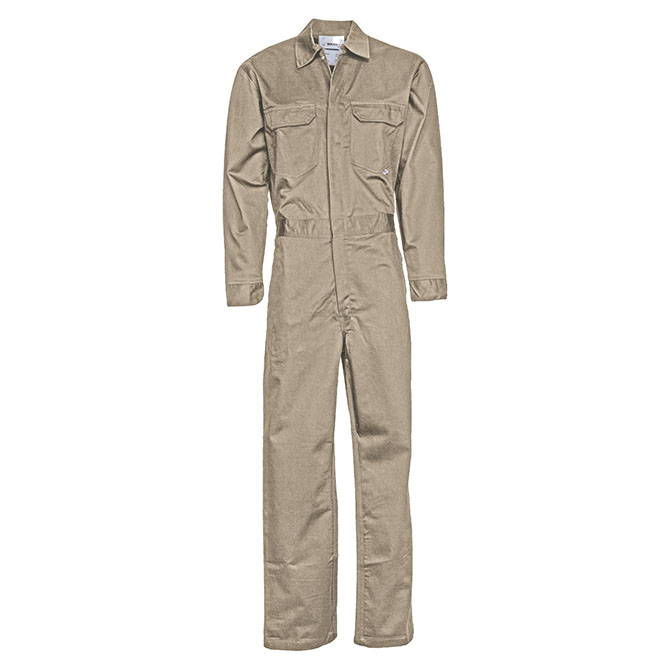 CC02-22750 (TA) 88/12 Cotton/Nylon Blend Flame Resistant Lightweight Economy Coverall