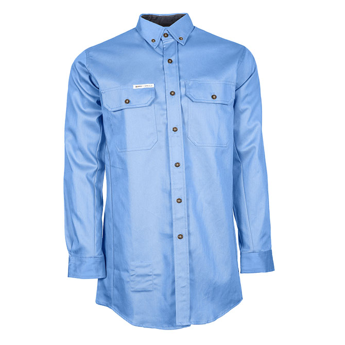 CS05-22720 (MB) 88/12 Cotton/Nylon Blend Long Sleeve Flame Resistant Button Front Shirt with Accent Colors