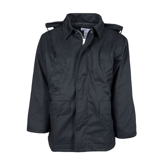 JB34-Parka Jacket with Detachable Hood, Twill