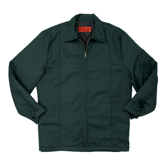 JL14SP-Panel Jacket, 65/35 Twill, Zipper Front
