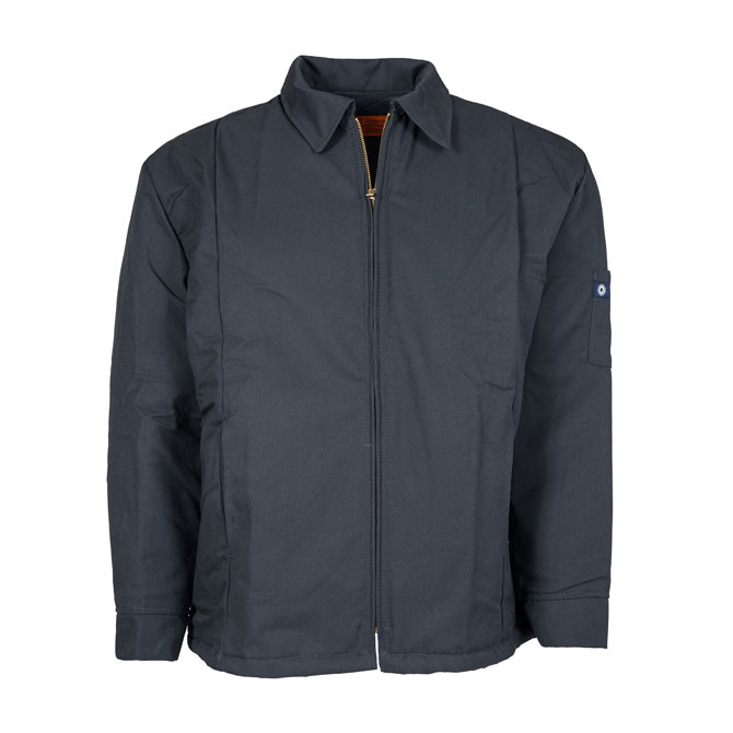 JL14CG-Panel Jacket, 65/35 Twill, Zipper Front