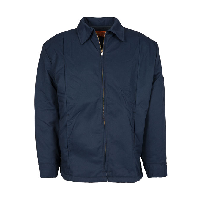 JL14NV-Panel Jacket, 65/35 Twill, Zipper Front
