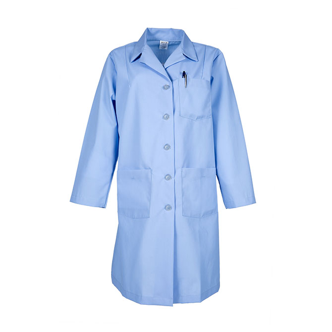 L17F-Female Lab Coat, Button Front, Blend