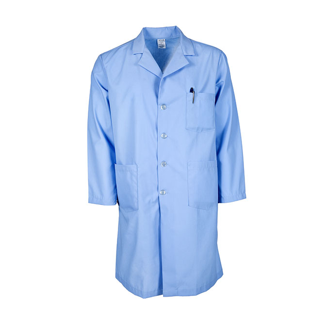 L17M-Men's Lab Coat, Button Front, Blend