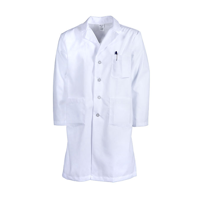 L17M/LONG-Men's Lab Coat, Button Front, Blend