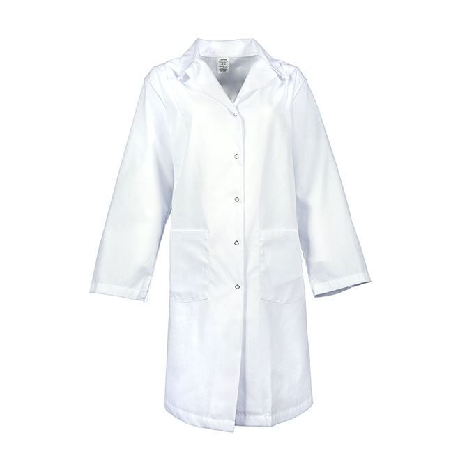 L18F-Female Lab Coat, Gripper Snap Front, Blend