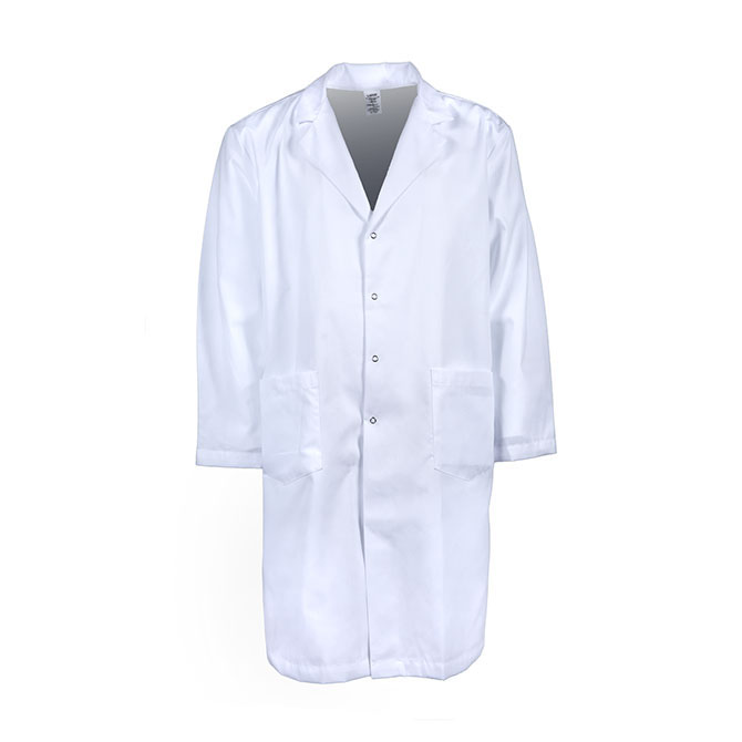 L18M-Men's Lab Coat, Gripper Snap Front, Blend