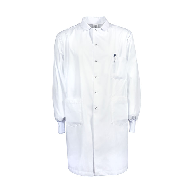 L21M-Men's Lab Coat, Knit Cuffs, Gripper Snaps