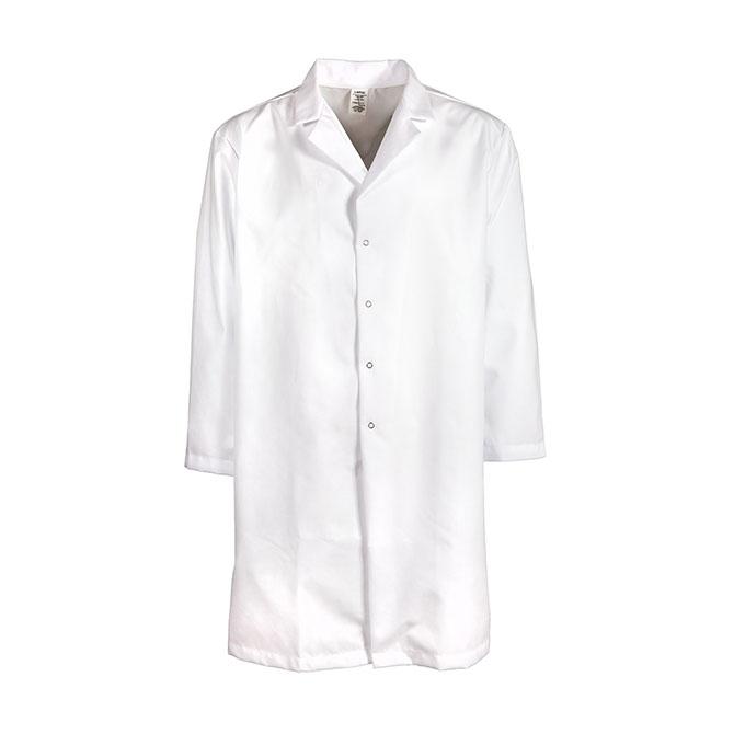 L25M-Men's Lab Coat, No Pockets, No Slits, Snaps