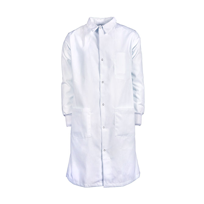 L35-Men's Precautionary Lab Coat, Knit Cuffs, Spun