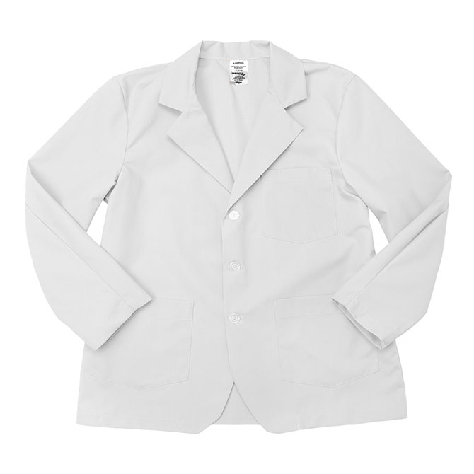 LC18WH-Lapel Coat, Full Sleeves, Poplin, 3 Buttons