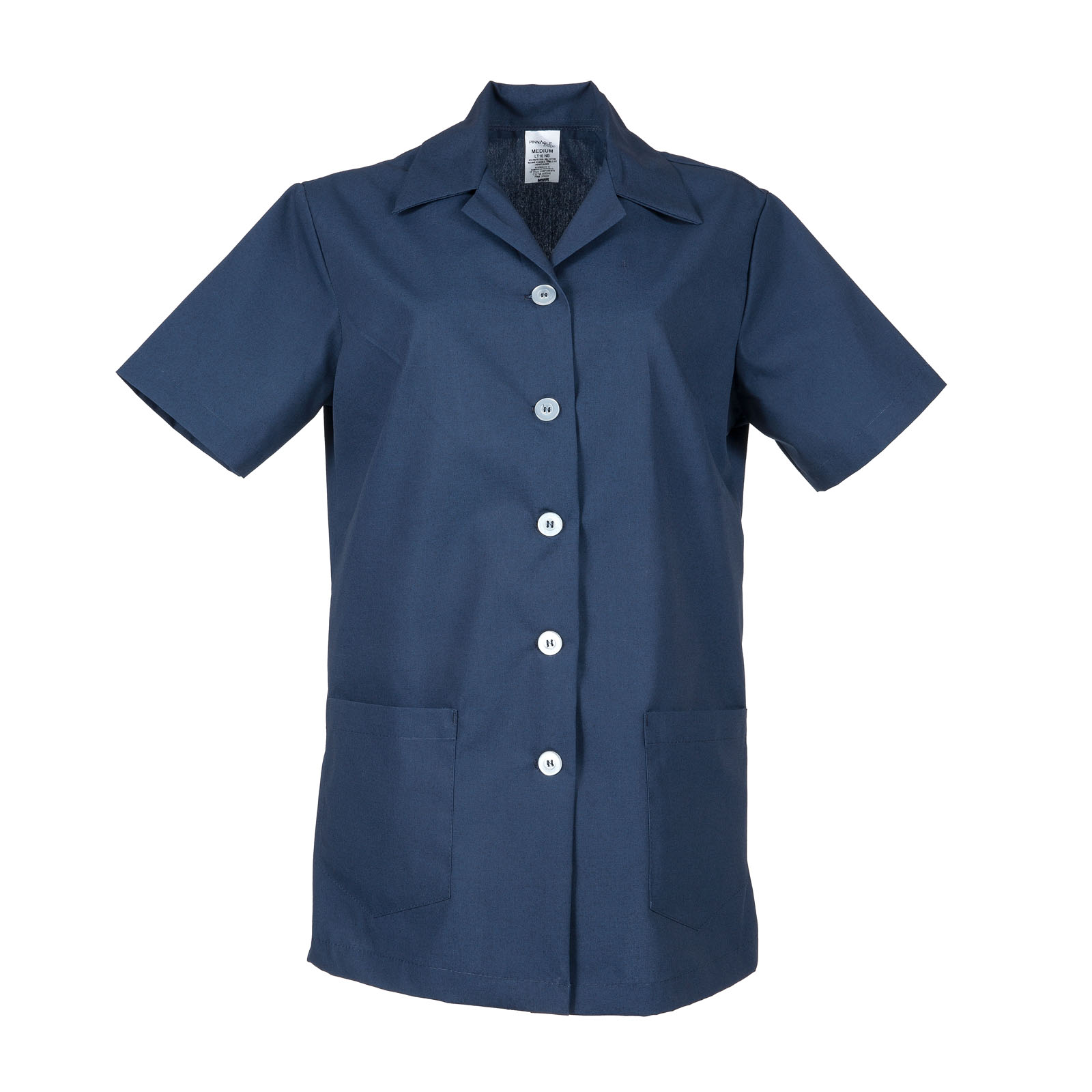 LT10 (Numeric Sizes) -Ladies Tunic, Short Sleeves, 6 Buttons, 65/35