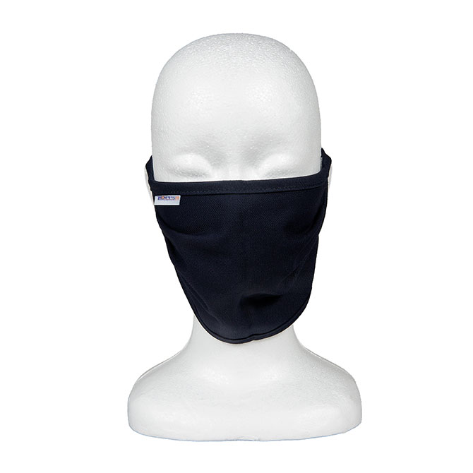 MK50-6705 (NV) PeakFR 88/12 Cotton/Nylon Blend 2-Ply Flame Resistant Face Mask with Self Ties