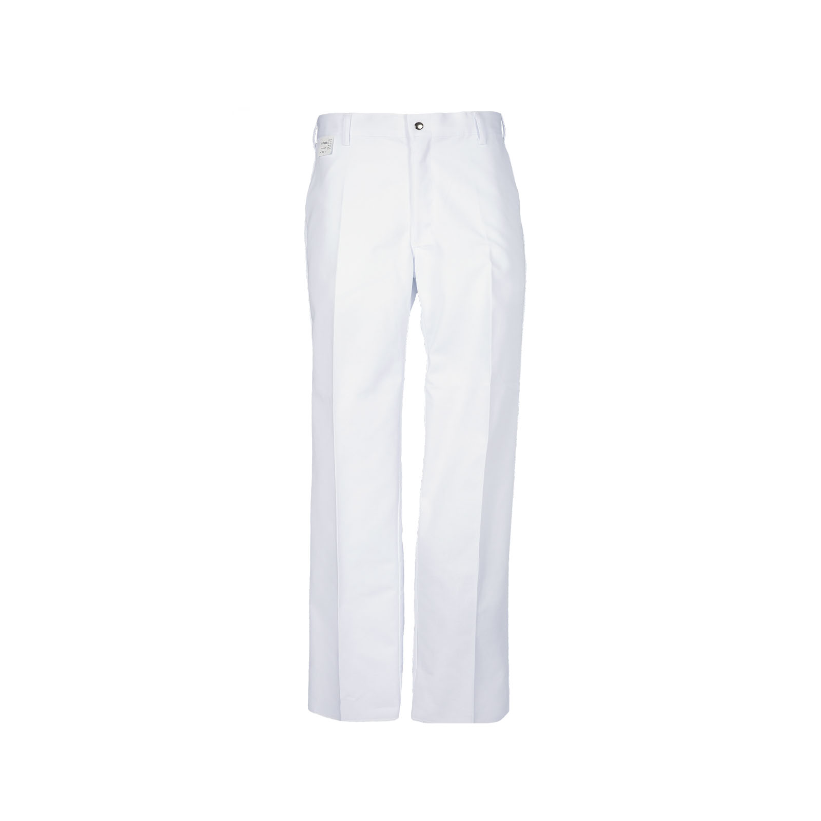 P100 White - Cook Pant, Zipper Fly, Patch Pockets, Blend