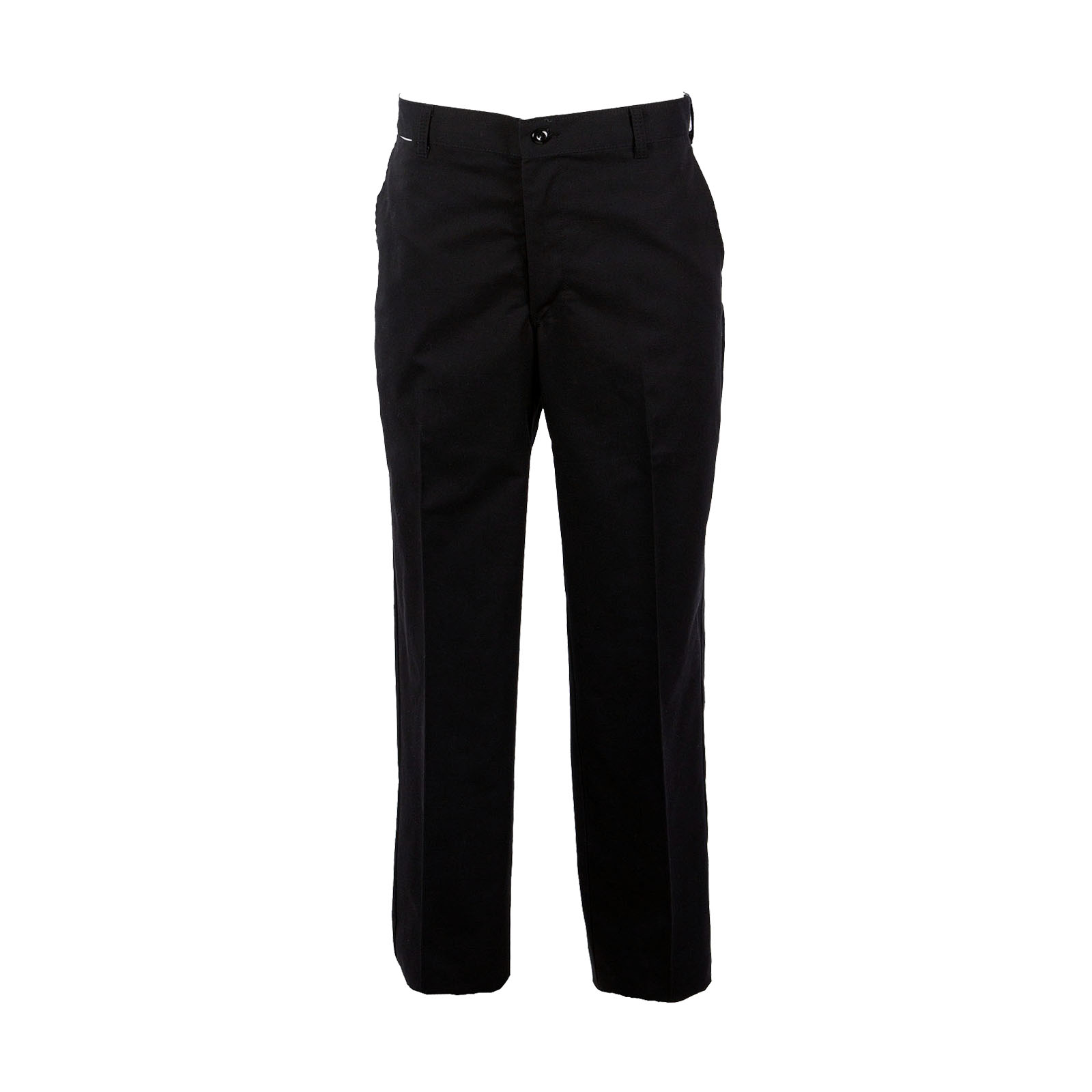 P100BK - Black Chef Pant, Zipper, 65/35 Twill