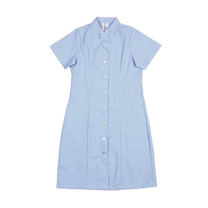 PD01LB-Princess Dress, Button Front, 65/35 P/C