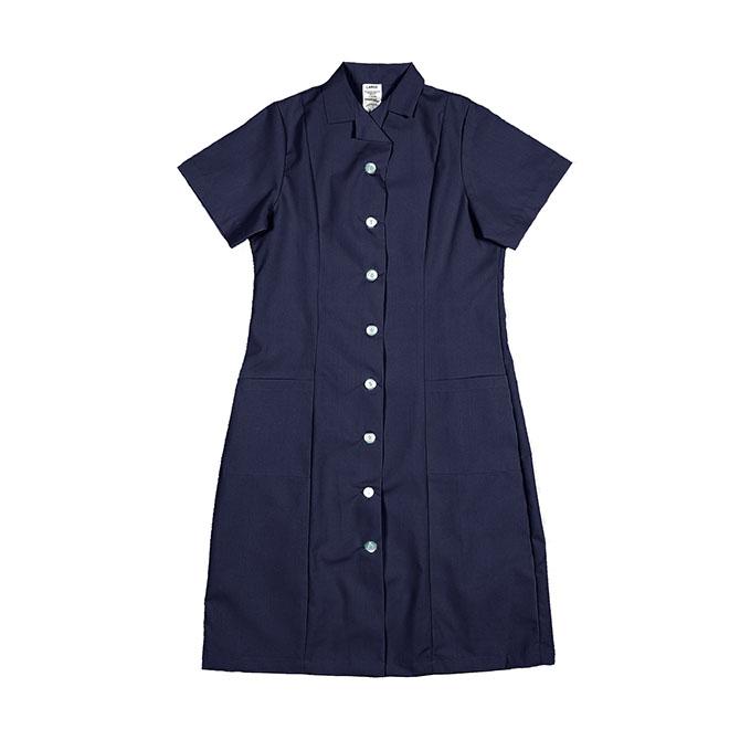 PD01NB-Princess Dress, Button Front, 65/35 P/C
