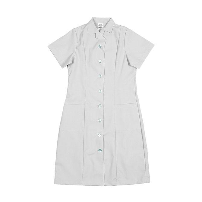 PD01WH-Princess Dress, Button Front, 65/35 P/C