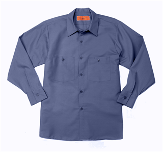 S40GB-Industrial Male Work Shirt, Long Sleeves