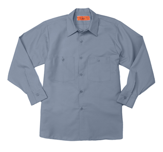 S40 Postman Blue - Industrial Male Work Shirt, Long Sleeves