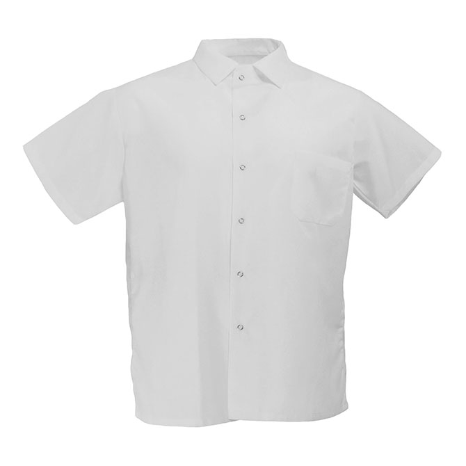 S102-Cook Shirt, 65/35, Gripper Front, Pocket