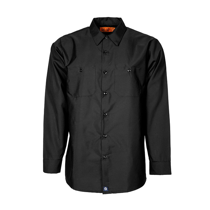 S10BL-Industrial Men's Shirt, Long Sleeves, 65/35