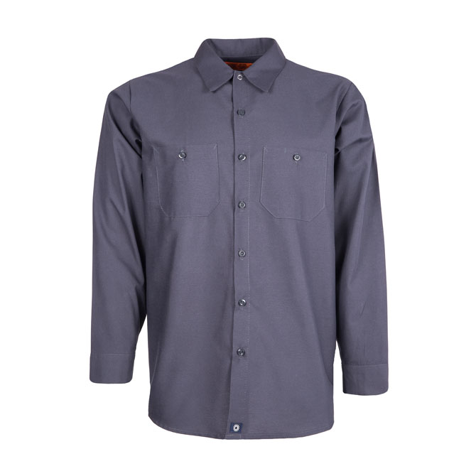 S10CG-Industrial Men's Shirt, Long Sleeves, 65/35