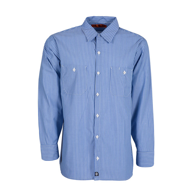 S10GM STRIPED-Industrial Men's Shirt, Long Sleeves, 65/35