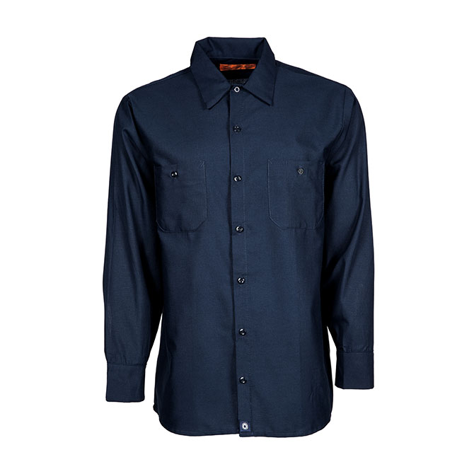 S10NV-Industrial Men's Shirt, Long Sleeves, 65/35