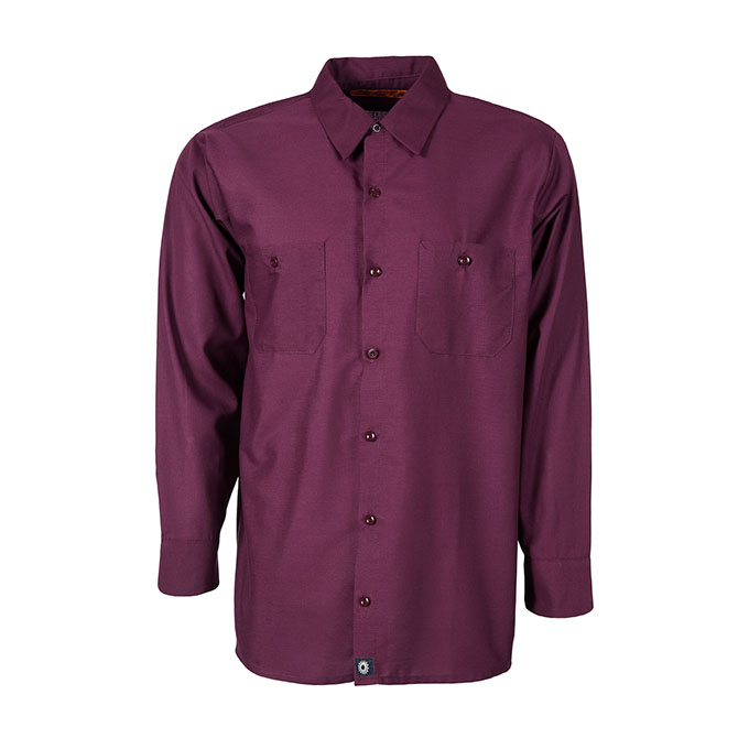 S10WI-Industrial Men's Shirt, Long Sleeves, 65/35