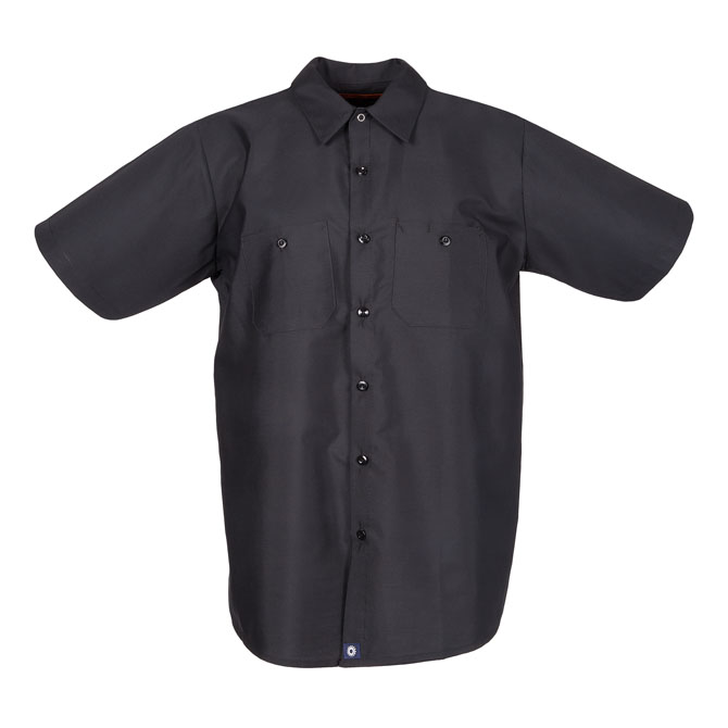 S12BL-Industrial Men's Shirt, Short Sleeves, 65/35