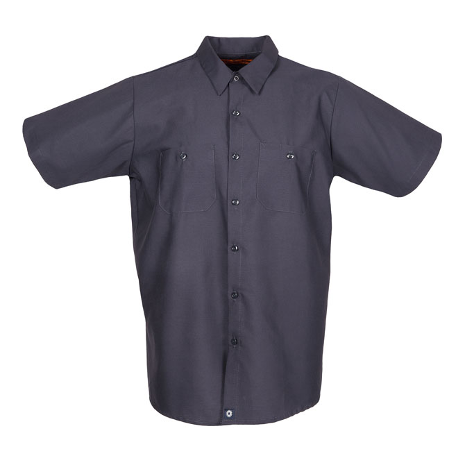 S12CG-Industrial Men's Shirt, Short Sleeves, 65/35