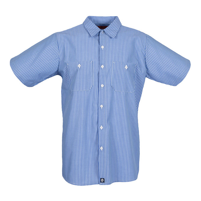 S12GM STRIPED-Industrial Men's Shirt, Short Sleeves, 65/35