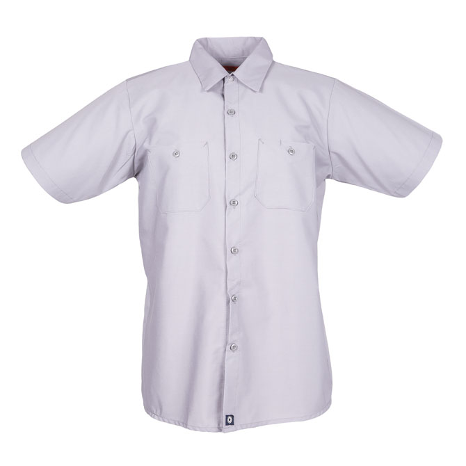 S12GY-Industrial Men's Shirt, Short Sleeves, 65/35