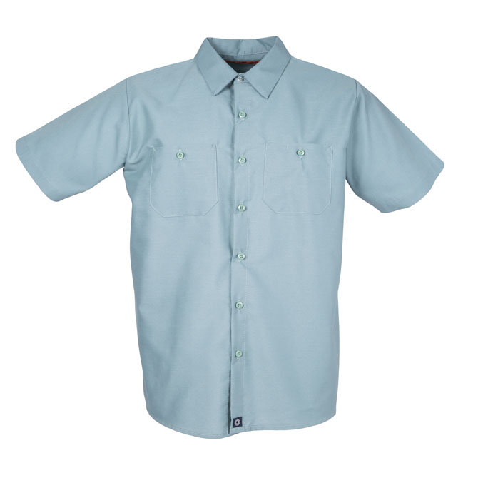 S12MG-Industrial Men's Shirt, Short Sleeves, 65/35