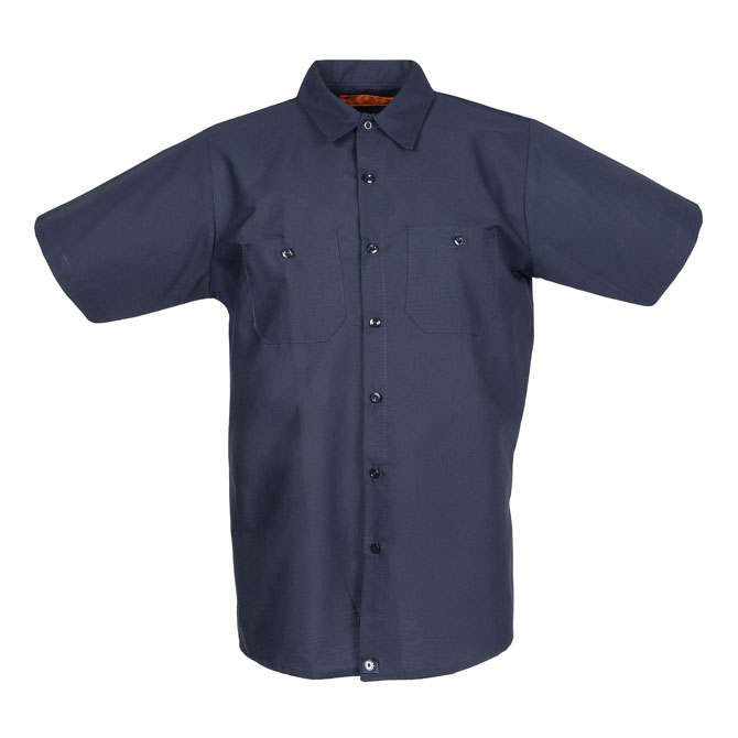 S12NV-Industrial Men's Shirt, Short Sleeves, 65/35