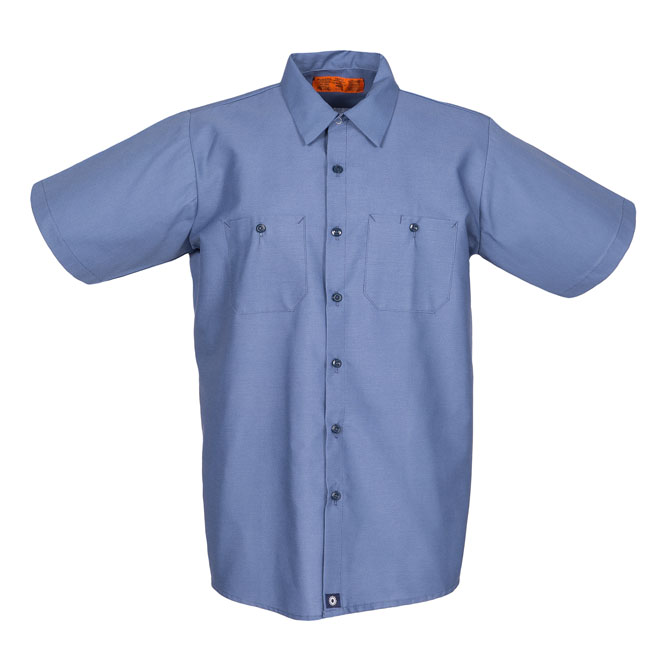 S12PB-Industrial Men's Shirt, Short Sleeves, 65/35