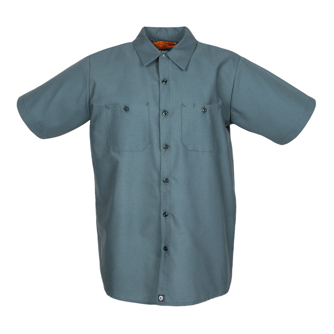 S12SP-Industrial Men's Shirt, Short Sleeves, 65/35