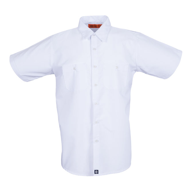S12WH-Industrial Men's Shirt, Short Sleeves, 65/35